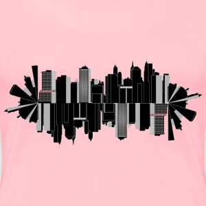 Cityscape Skyline Elliptical 2 - Women's Premium T-Shirt