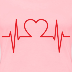 Heart EKG Improved - Women's Premium T-Shirt