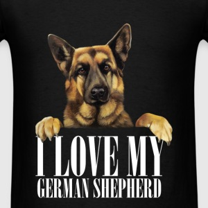 I love my german shepherd - Men's T-Shirt
