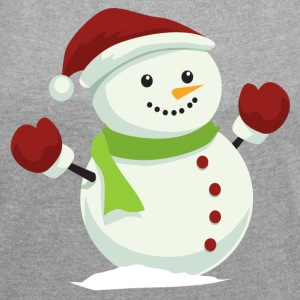 snowman - Women´s Roll Cuff T-Shirt