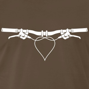 MTB handlebars with heart Shirt - Men's Premium T-Shirt