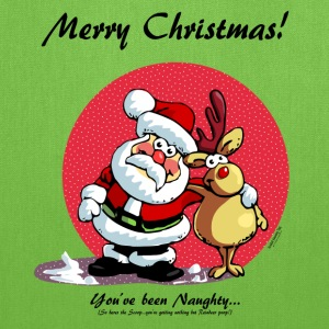 Merry Christmas:   You've been Naughty! Bags & backpacks - Tote Bag