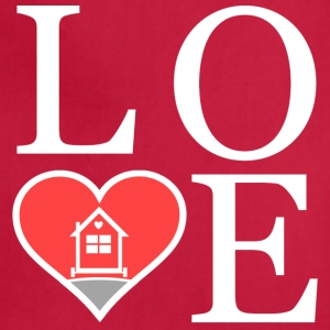 Love Tiny Houses - Heart Aprons - Adjustable Apron