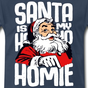 Santa is my homie - Men's Premium T-Shirt
