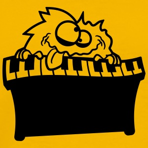 Keyboard piano keys music band playing fun party c T-Shirts - Men's Premium T-Shirt