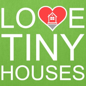 Love Tiny Houses - Heart Bags & backpacks - Tote Bag