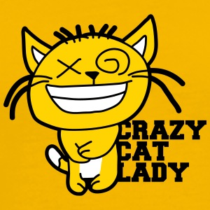 Cat crazy cat lady love crazy pets kitten woman fe T-Shirts - Men's Premium T-Shirt