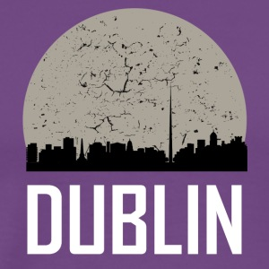 Dublin Full Moon Skyline - Men's Premium T-Shirt