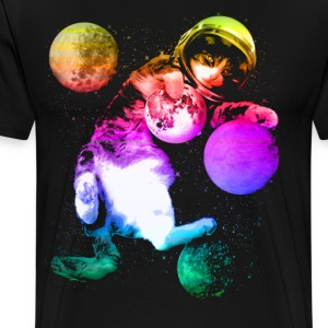 Planet Space Cat  - Men's Premium T-Shirt
