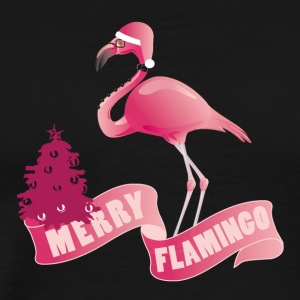 MERRY FLAMINGO - Men's Premium T-Shirt