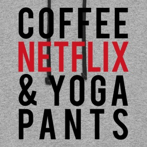 COFFEE NETFLIX & YOGA PANTS - Colorblock Hoodie