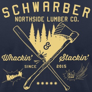 Schwarber Lumber Co_cream - Men's T-Shirt by American Apparel