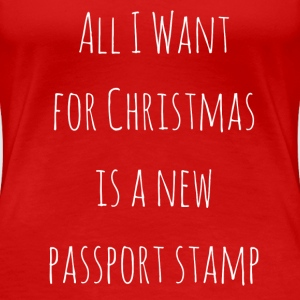Passport Stamp for Christmas - Women's Premium T-Shirt