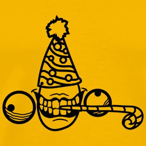 Birthday party celebrate hat mad gift insane face  T-Shirts - Men's Premium T-Shirt