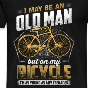 Bicycle - On my bicycle I'm as young as any teen - Men's Premium T-Shirt
