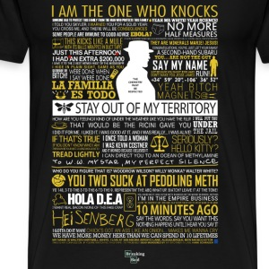 Breaking Bad Typographic - I am the one who knock - Men's Premium T-Shirt