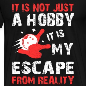 Bowling - It is my escape from reality t-shirt - Men's Premium T-Shirt