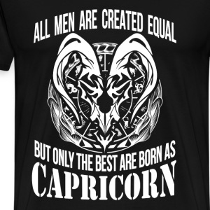 Capricorn - The best men are born as capricorn - Men's Premium T-Shirt