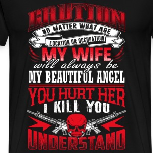 My wife will always be my beautiful angel - Men's Premium T-Shirt