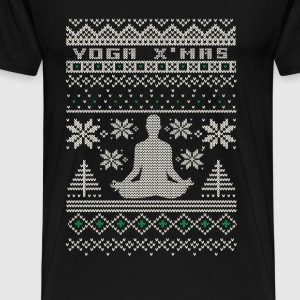 Yoga - Happy yoga christmas sweater for yoga lover - Men's Premium T-Shirt