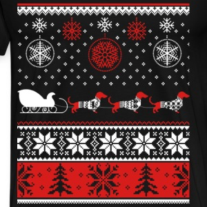 Dachshund - Christmas sweater for dog lovers tee - Men's Premium T-Shirt