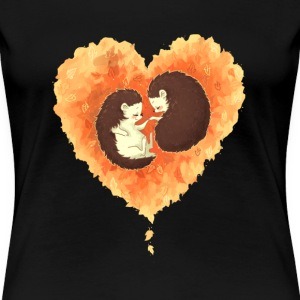 Hedgehog - Cute Couple hedgehogs t-shirt for lo - Women's Premium T-Shirt