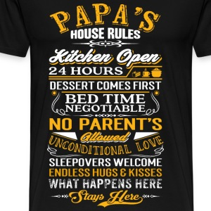 Papa - Papa's house rules - Fathers Day - Men's Premium T-Shirt
