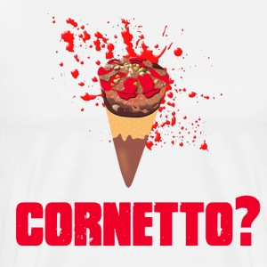 Cornetto? - Shaun Of The Dead T-Shirts - Men's Premium T-Shirt