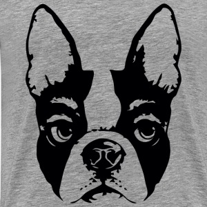 pug glaring - Men's Premium T-Shirt