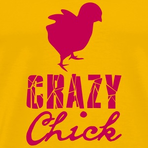 Crazy chick chicken chick chicken cock female fema T-Shirts - Men's Premium T-Shirt