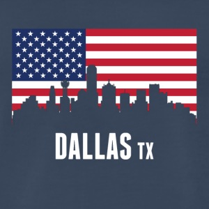 American Flag Dallas Skyline - Men's Premium T-Shirt