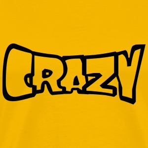 Comic cartoon text font logo design cool crazy cra T-Shirts - Men's Premium T-Shirt
