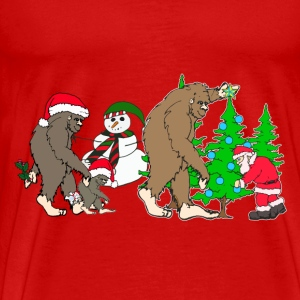 bigfoot santa snowman 1 - Men's Premium T-Shirt