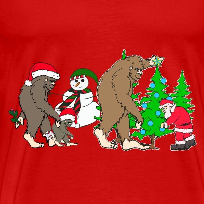 bigfoot santa snowman 1