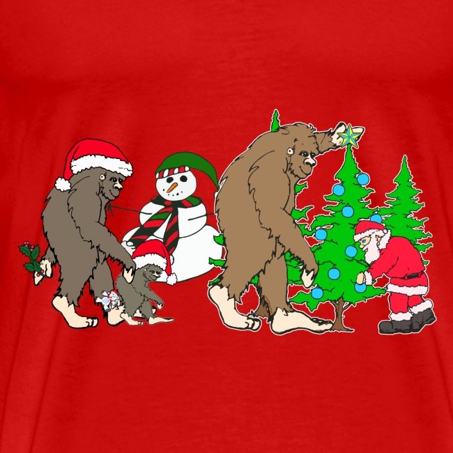 bigfoot santa snowman 1