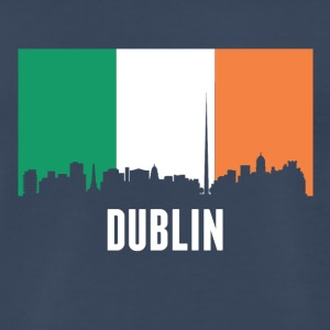 Irish Flag Dublin Skyline - Men's Premium T-Shirt