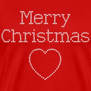 Merry Christmas cross stitch sign T-Shirts - Men's Premium T-Shirt