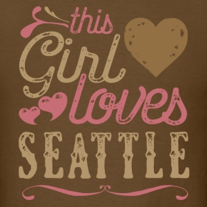 This Girl Loves Seattle - Seattle Gift T-Shirts - Men's T-Shirt