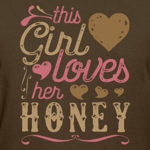This Girl Loves Los Her Honey - Honey Gift T-Shirts - Women's T-Shirt