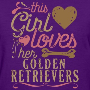This Girl Loves Golden Retrievers - Golden Retriev T-Shirts - Women's T-Shirt