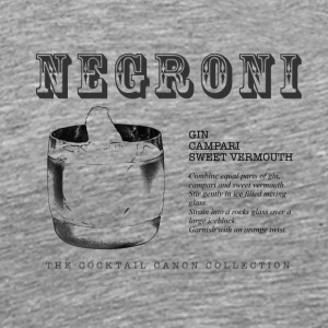 NEGRONI - THE COCKTAIL CANON COLLECTION #1 - Men's Premium T-Shirt