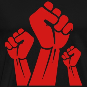 Fight the power red fist T-Shirts - Men's Premium T-Shirt