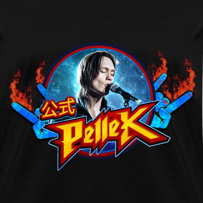 Girls cut T-shirt with PelleK logo and PelleK