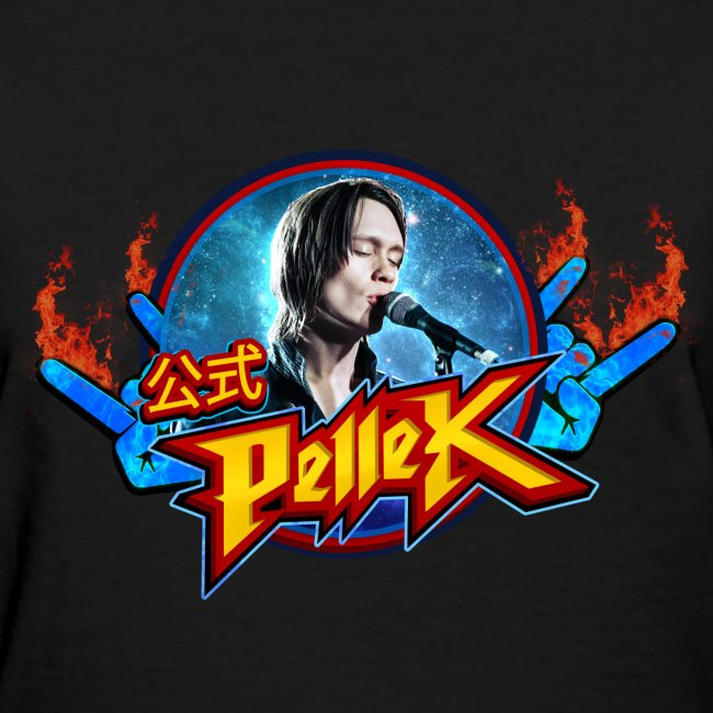 Girls cut T-shirt with PelleK logo and PelleK