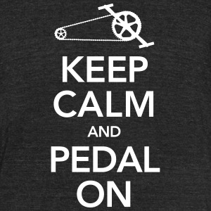 Keep Calm And Pedal On T-Shirts - Unisex Tri-Blend T-Shirt by American Apparel