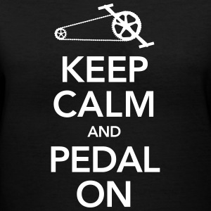 Keep Calm And Pedal On T-Shirts - Women's V-Neck T-Shirt