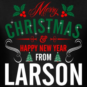 mery_christmas_happy_new_year_from_larso T-Shirts - Men's T-Shirt