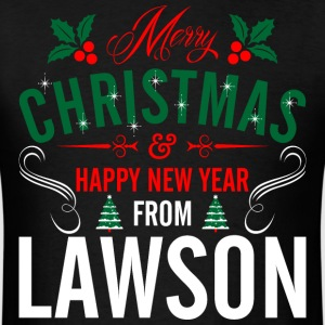 mery_christmas_happy_new_year_from_lawso T-Shirts - Men's T-Shirt
