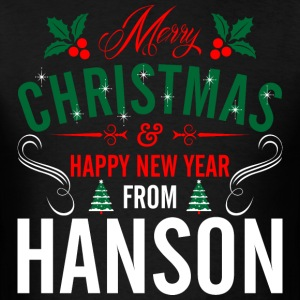 mery_christmas_happy_new_year_from_hanso T-Shirts - Men's T-Shirt