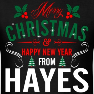 mery_christmas_happy_new_year_from_hayes T-Shirts - Men's T-Shirt